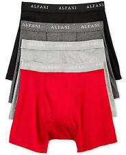 $55 ALFANI UNDERWEAR MEN RED BLACK CLASSIC COTTON BOXER BRIEFS 4-PACK SIZE M