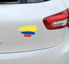 Vinilo pegatina # 925 # bandera de Colombia  4unds coches motos cascos
