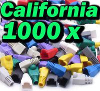 Lot 1000 X Pcs Mix Boot CAT5 CAT5E CAT6 RJ45 8P8C Plug Connector End Cap Cable