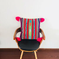 Pillow case made from recycled handmade by loom vintage Peruvian fabric MP7