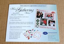 Creative Memories Stickers*Holiday Gathering* 4 Block Sheets 4x5 NiIP/NLA