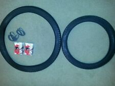 TWO(2) DURO BICYCLE TIRES DIAMOND PATTERN VINTAGE SCHWINN CYCLE TRUCKS & TUBES