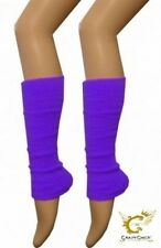 LADIES ASSORTED NEON FLOURESCENT ROUGE TOP LEG WARMERS LEOPARD PARTY DANCE WARM