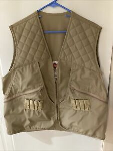 NICE COLUMBIA UPLAND BIRD HUNTING VEST - TAN CANVAS - MEN'S XL - USED ONCE