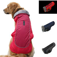 Winter Warm Pet Dog Clothes Waterproof Padded Fleece Coat Vest Jacket Reflective