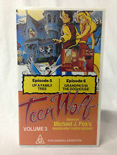 TEEN WOLF / VHS / ANIMATED CARTOON SERIES / 2 EPISODES / VERY RARE PAL VHS
