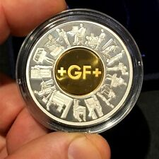 2002 George Fischer Employees Medal  200 Years - 14K Gold & Silver - Box COA u98