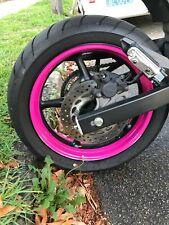 CUSTOM PINK MOTORCYCLE INNER RIM DECALS WHEEL STICKERS STRIPES TAPE VINYL WRAP