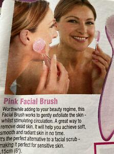 Brand New Pink Facial Brush For Sensitive Skin L15cm