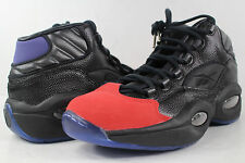 Reebok Question Mid Packer Curtain Call Black Red Blue Size 9 Allen Iverson