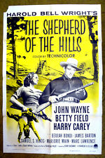 "JOHN WAYNE - ""SHEPHERD of the HILLS"" /thrilling story of the Ozarks /1955 poster"