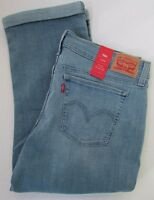 SALE NWT Levi's Jeans Capri Cropped Light Wash Sizes 29 30 32