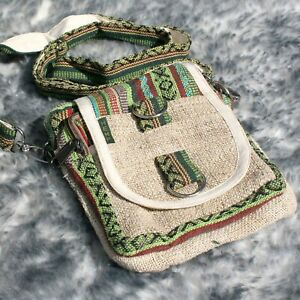 Hemp Shoulder Bag Bumbag Handmade Fanny Pack Waist Travel Festival Summer Gift