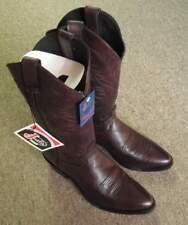 Men's Justin Cherry Corona Western Cowboy Boots # 2414 Size 8 1/2 D New No Box