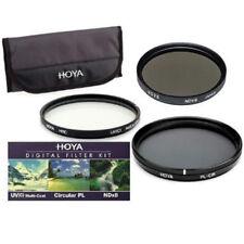 Kit de Filtro Hoya 77mm 3x Hmc Digital Uv (Circular CPL Polarizador) + C + Bolsa De ND8