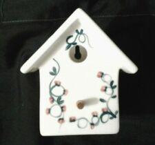 CERAMIC BIRD HOUSE WALL POCKET PLANTER