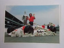 Emerson Fittipaldi 1989 Indianapolis 500 Winner Postcard Marlboro Patrick Racing
