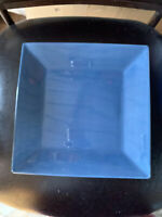"10 1/4"" Corsica Home by Tabletop Unlimited, Ocean Blue Square Dinner Plate NEW"