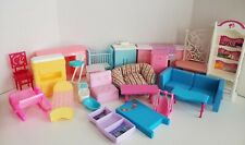 Barbie Furniture Lot Doll Dream House Kelly Bed Tables Sink Kitchen Oven Chairs
