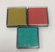 We R Memory Keepers Set of 3 Ink pads GREEN GOLD RED craft printing multi pack