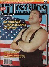Pro Wrestling Illustrated November 1984 SGT. Slaughter VG 122315DBE