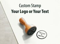 Personalised Custom Made Bespoke Name and Address Logo's stamp, wood stamp