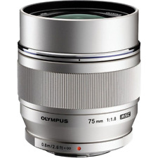 Olympus 75mm f1.8 M.ZUIKO Digital ED Lens: Silver CA2477