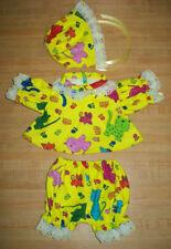 """dress panty bonnet set CAT+MOUSE W/ lace for 15"""" CPK Cabbage Patch Kids Preemie"""