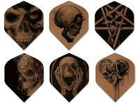Alchemy Copper Chrome - Skull - Dart Flights - 100 Micron - Standard Shape