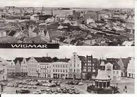 uralte AK Wismar Blick auf Werft, Hafen und Überseehafen, Am Markt 1981 //67