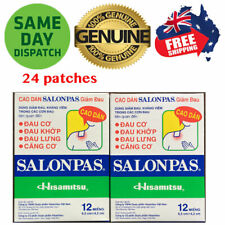 Salonpas Patch Hisamitsu Pain Relieving 2 Boxes 24 Patches Made in Vietnam