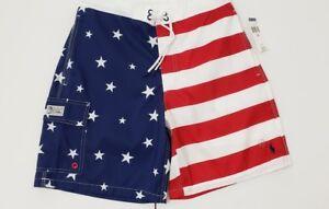 NWT POLO RALPH LAUREN MENS FLAG SWIM Shorts TRUNKS , #26