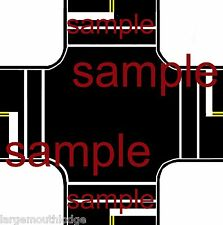 HO SCALE LAYOUT EASY PEEL & STICK ROADWAY DECALS INTERSECTION TOUGH VINYL
