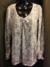 MAURICES  Long Sleeve BURNOUT Knit Blouse Top Shirt Jr. Women's SIZE XL