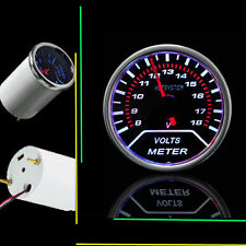 "HS 2"" 52mm 8-18V Smoke Tint Len Car LED Volt Meter Voltage Pointer Gauge SL09"