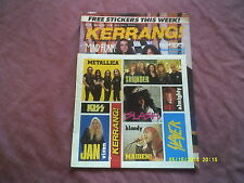 KERRANG No.338 MIND FUNK,MORBID ANGEL etc + FREE STICKERS