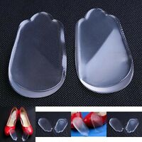 2x Heel Support Pad Cup Spur Gel Silicone Shock Cushion Orthotics Shoe Insoles