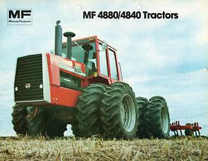 Massey-Ferguson 4840-4880 Knicklenker Traktoren Prospekt 1979 Tractors Brochure