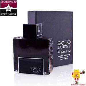 OFERTA! PERFUME HOMBRE SOLO LOEWE PLATINUM 50 100 ML EDT ORIGINAL. DESDE ESPAÑA