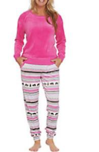 MUK LUKS WINTER Plus PINK Velour Long Sleeve Top & Jogger Pant Pajama Set 1X