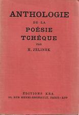 ANTHOLOGIE DE LA PO2SIE TCHEQUE - H. JELINEK 1930