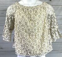 New Maurices Women's Top Floral 3/4 Sleeve Blouse Size XL NWT MSRP $34