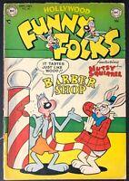 HOLLYWOOD FUNNY FOLKS Golden Age DC Humor #49 1952 GD SHELDON MAYER Win Mortimer