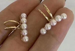 Tennyo 4-4.5mm Japanese akoya pearl earrings clip G18k Japan order