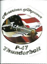 P-47 THUNDERBOLT  AIRPLANE  Sticker Decal
