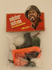 """Rare Mister Action 40 Pieces Accessories Fits 12"""" GI Joe Figures Mint in Package"""
