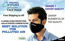 5x Oxypura City Reusable Air Purifying Face Mask, Carbon + Particle filter Large