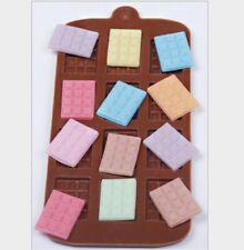 Mini Chocolate Bars Slab Silicone Fondant Mould Cake Decorating Baking Mold Tool
