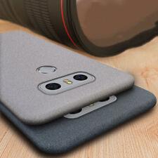For LG G5 G6 G7/Q6 Q8 V30 V40 Slim Soft Silicone Sandstone TPU Skin Case Cover