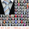 Classic Blue Red Black Grey Men Tie Paisley Stripe Silk Necktie Wedding Business